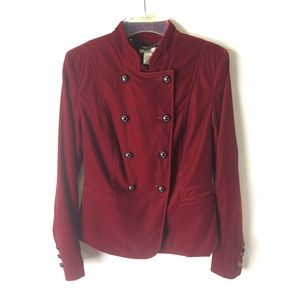 CACHE | jacket velvet double buttons red 4